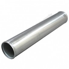 "4"" Aluminum Straight Pipe, Polished, 3.0mm Thick, 24"" Length"