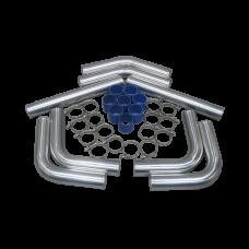 """3.5"""" OD DIY Al Turbo Intercooler Piping Kit for BMW E30 E36 E46"""