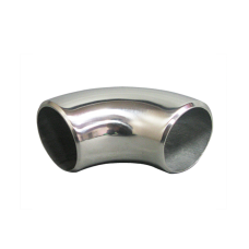 """1.65"""" O.D. Extruded 304 Stainless Steel Elbow 90 Degree Pipe , 3mm (11 Gauge) Thick"""