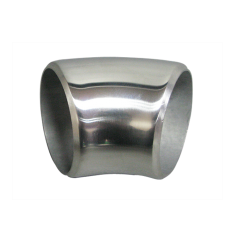 """2"""" O.D. Extruded 304 Stainless Steel Elbow 45 Degree Pipe , 3mm (11 Gauge) Thick"""