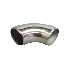 """2.5"""" O.D. Extruded 304 Stainless Steel Elbow 90 Degree Pipe , 3mm (11 Gauge) Thick"""