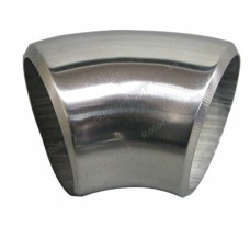 "1.65"" O.D. Extruded 304 Stainless Steel Elbow 45 Degree Pipe , 3mm (11 Gauge) Thick"