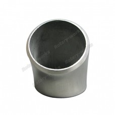 "1.9"" O.D. Extruded 304 Stainless Steel Elbow 45 Degree Pipe , 3mm (11 Gauge) Thick"