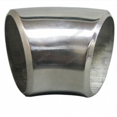 "2.25"" O.D. Extruded 304 Stainless Steel Elbow 45 Degree Pipe , 3mm (11 Gauge) Thick"
