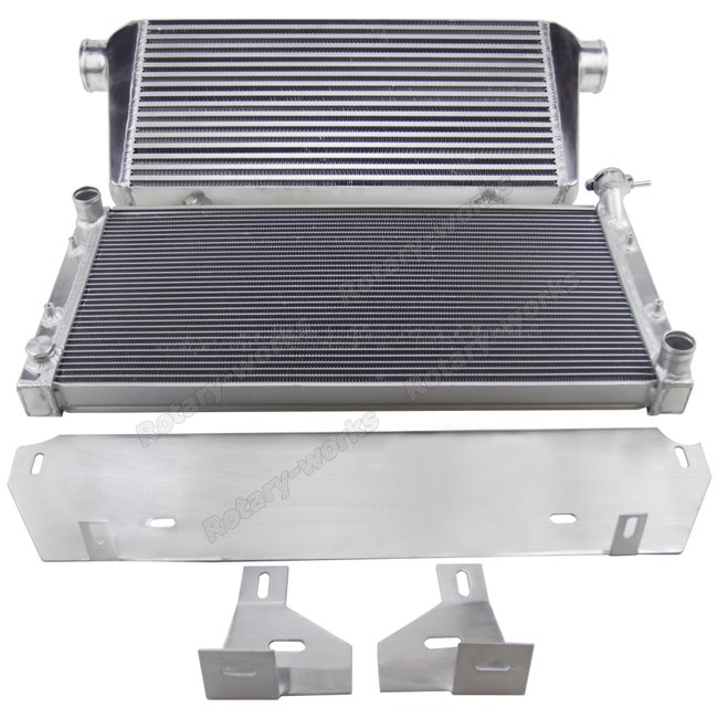 13B Rotary Engine Intercooler Radiator Kit For Nissan Datsun 510 Swap
