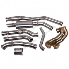 FC 13B Rotary Engine Turbo Manifold Downpipe Catback Exhaust For Datsun 510