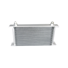 "Aluminum Oil Cooler 11"" Core 19 Row AN8 Fitting Hi Performance"