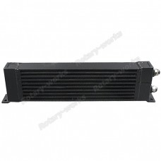 "Aluminum Oil Cooler 23.5""x6""x2.5"" , core:18""x5.25""x2.5"", AN12 Inlet & Outlet"