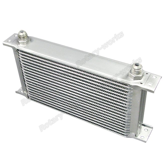 Engine Oil Cooler Works : Aluminum oil cooler quot core row an fitting hi