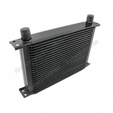 "Aluminum Oil Cooler 11"" Core 25 Row AN10 Fitting Hi Performance Black"