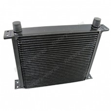 "Aluminum Oil Cooler 11"" Core 30 Row AN10 Fitting Hi Performance Black"