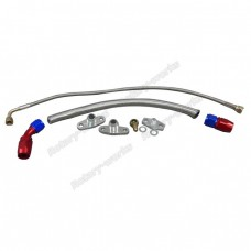 Turbo Oil Line Feed Drain Return Kit For Mazda RX7 RX-7 FC 13B AN10