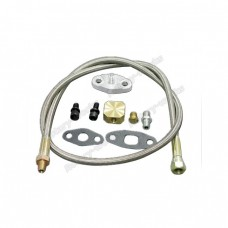 """37"""" Oil Inlet Feed Line Kit Braided For T3 T4 T04E T70 GT35 Turbo"""