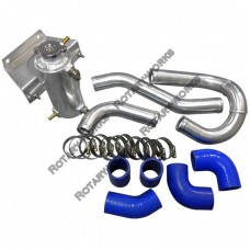 "1.5"" Aluminum Radiator Hard Pipe Kit For 2003-2012 Mazda RX-8 With RX-7 FD REW 13B Engine Swap"
