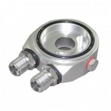Aluminum CNC Oil Cooler Filter Sandwich Adapter Plate AN 8