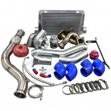 Single Turbo Manifold Downpipe Intercooler Kit For Mazda RX7 SA FB 13B RX-7