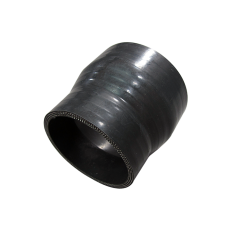 """Black Silicon hose straight reducer 3""""-2.5"""" for Intercooler pipe"""